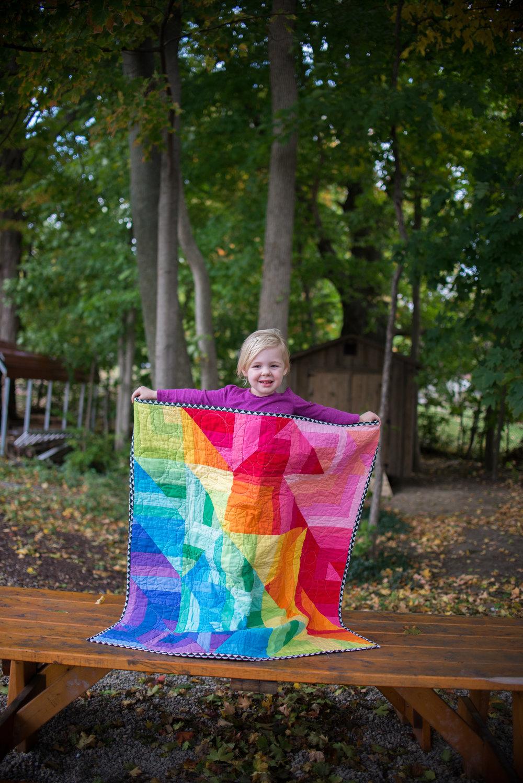 Rainbow Prism Quilt