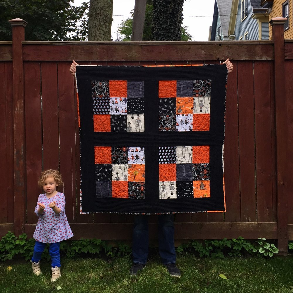 Family Halloween quilt