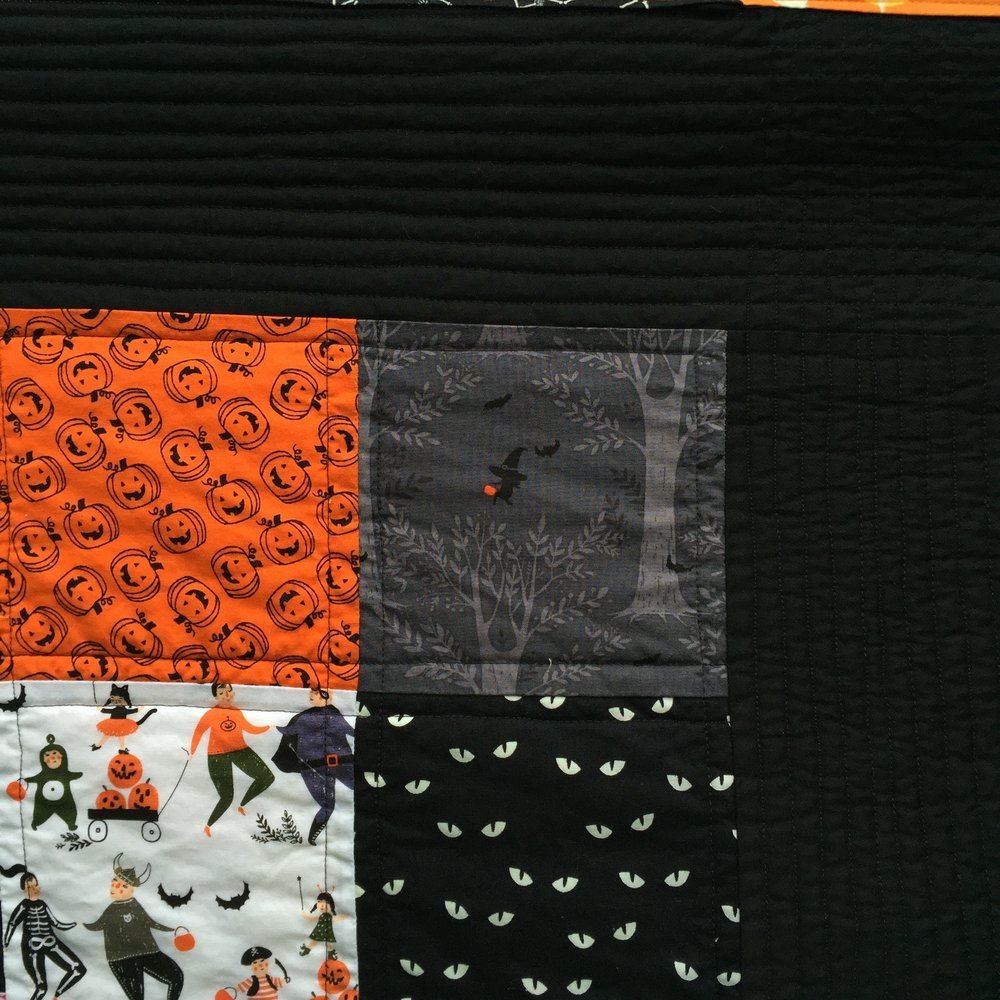 Family Halloween Quilt detail