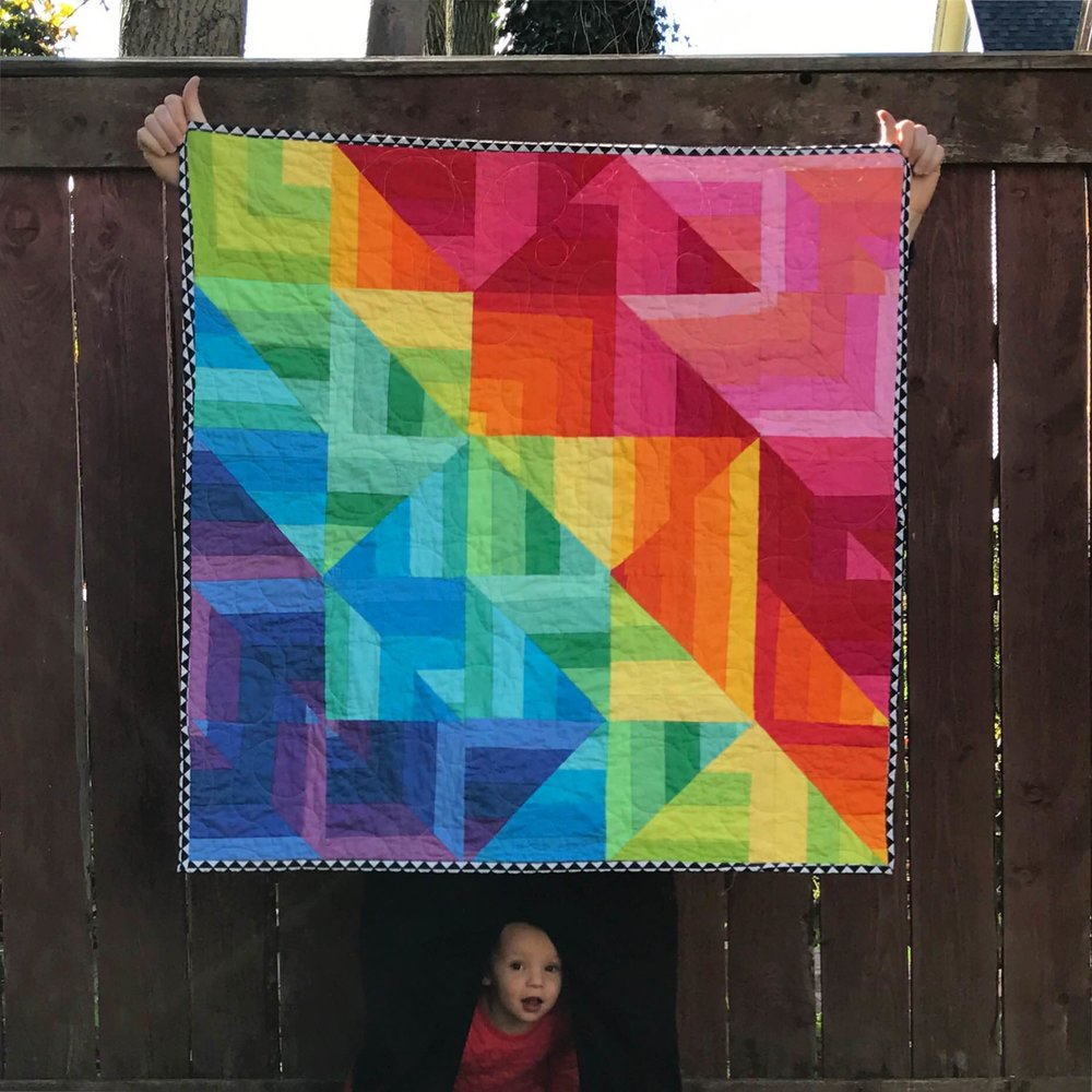 Rainbow Prism Quilt full view