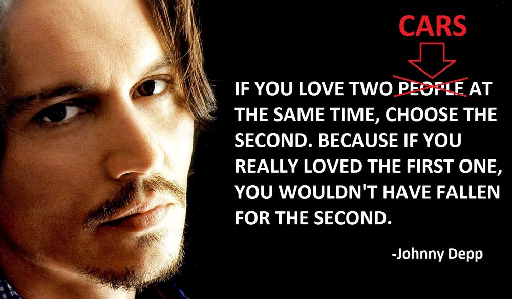 Depp on cars and women
