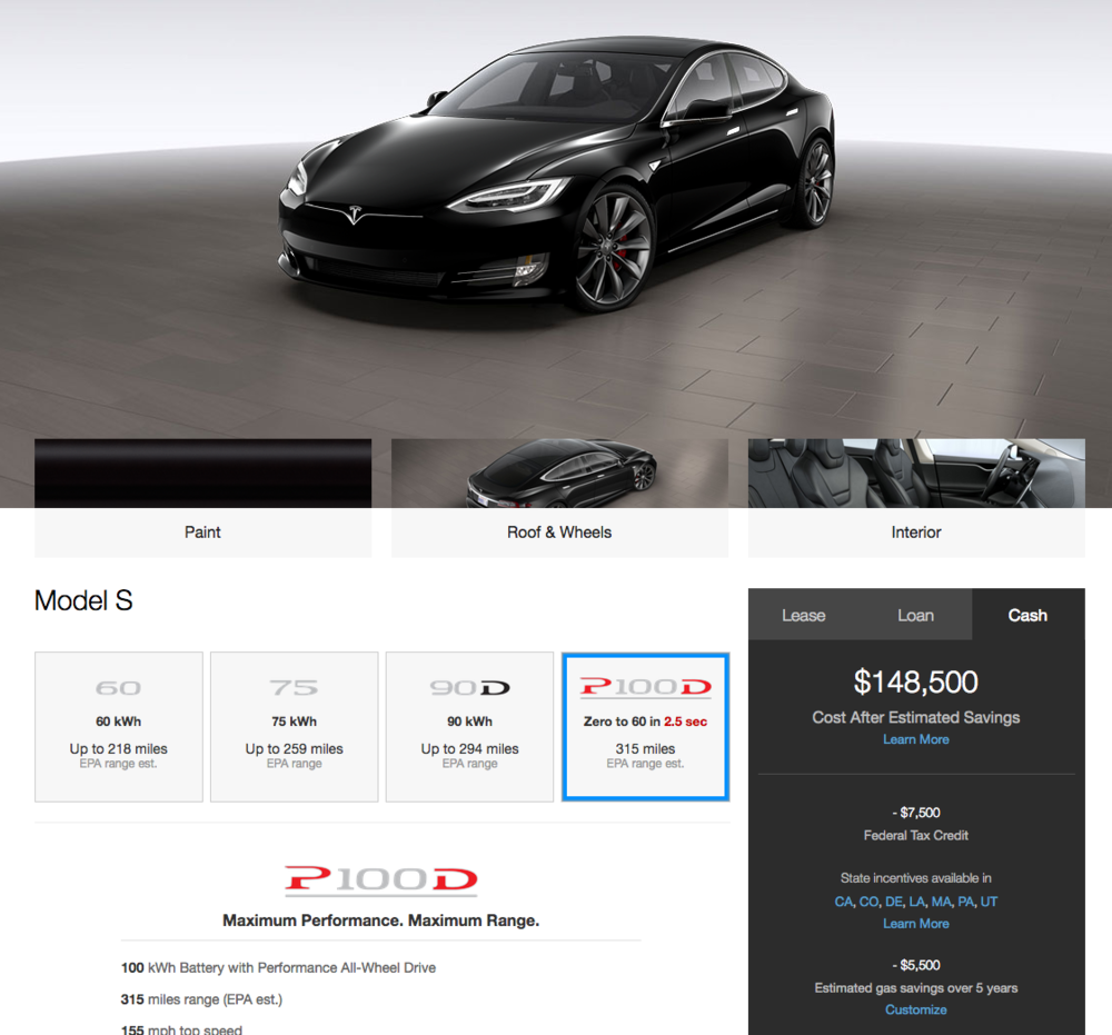 Ahhhh... The electric luxury that is a $161,500 car (before savings and incentives).  How is this even slightly affordable?