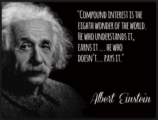 """""""Compound interest is the eighth wonder of the world"""" - Einstein"""