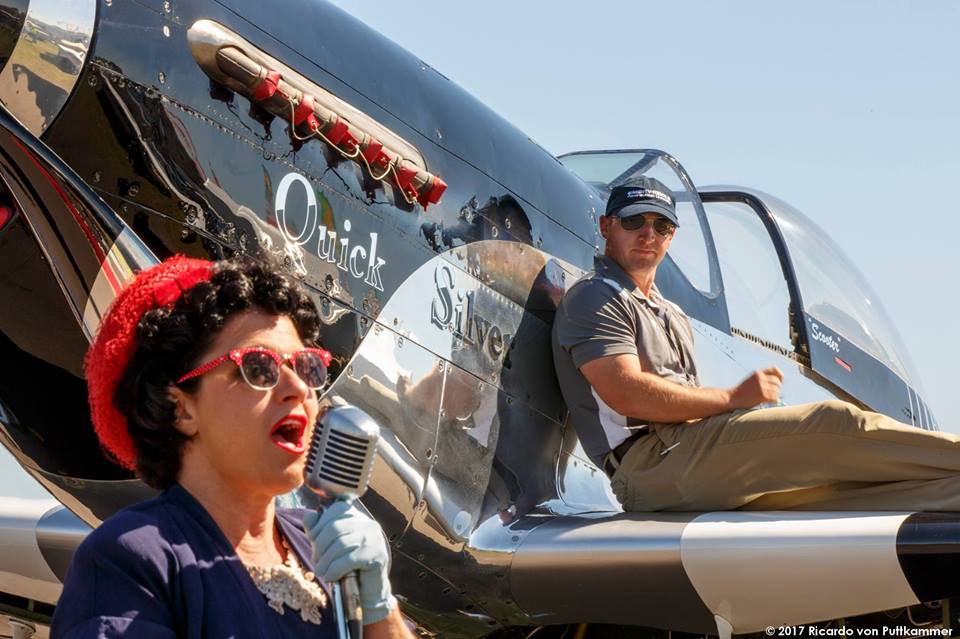 Episode #95. Theresa Eaman talks singing and other activities for women at Warbirds over the Beach 2018.