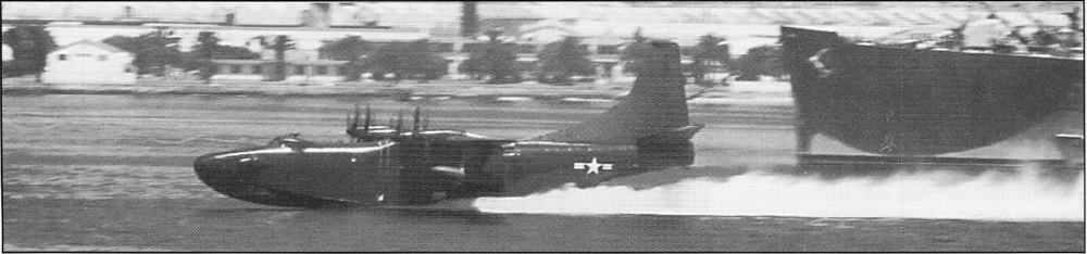 Figure 3. XP5Y-1 First Flight Takeoff Run by US Navy.