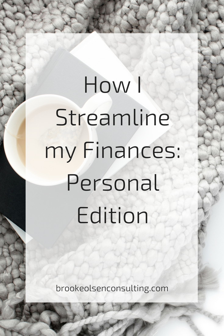 How to streamline personal finance - personal financials | Brooke Olsen Consulting