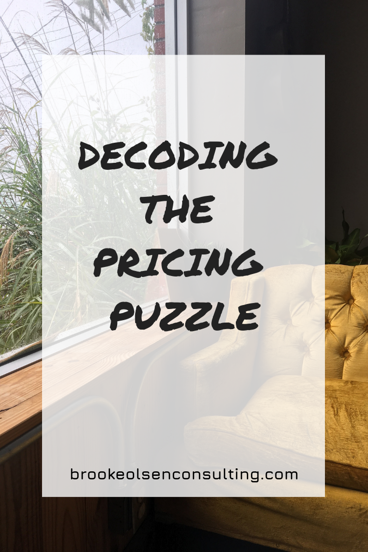 Decoding The Pricing Puzzle | Brooke Olsen Consulting