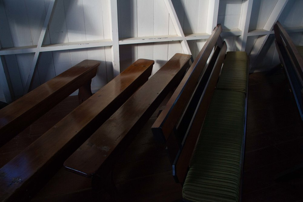 Chairs, St Michaels Anglican, Ōhaeawai, 2017