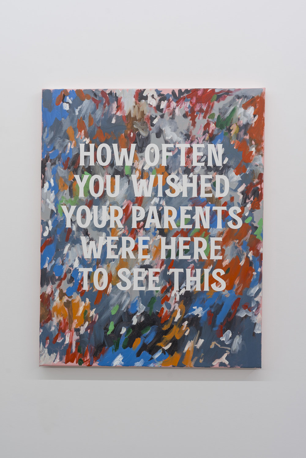 How Often You Wished Your Parents Were Here To See This,  2017  Oil on linen, 1015mm H x 800mm W, Available from  Tim Melville Gallery
