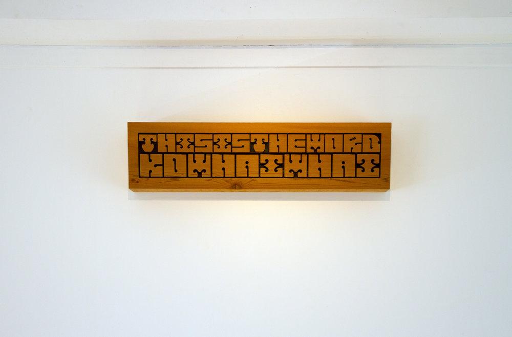 Detail, Untitled (te wānanga o Pākehā), 2018, Martin Awa Clarke Langdon