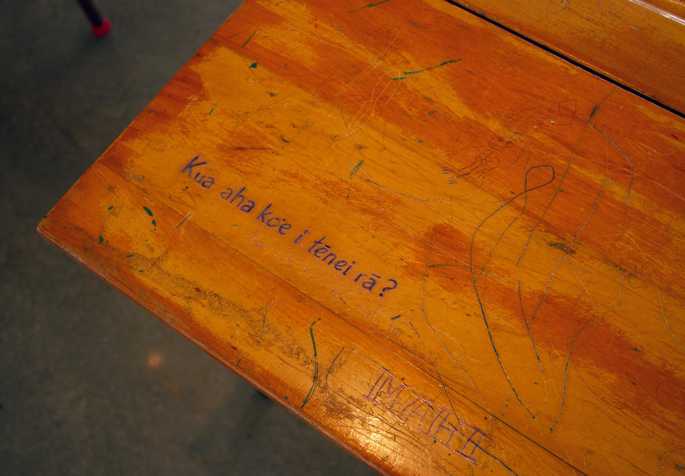 Desk detail, Martin Awa Clarke Langdon