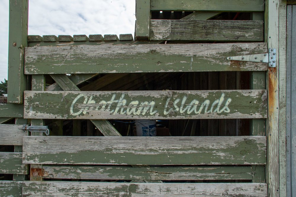 Sign, Chatham Islands, Wharekauri, 2019
