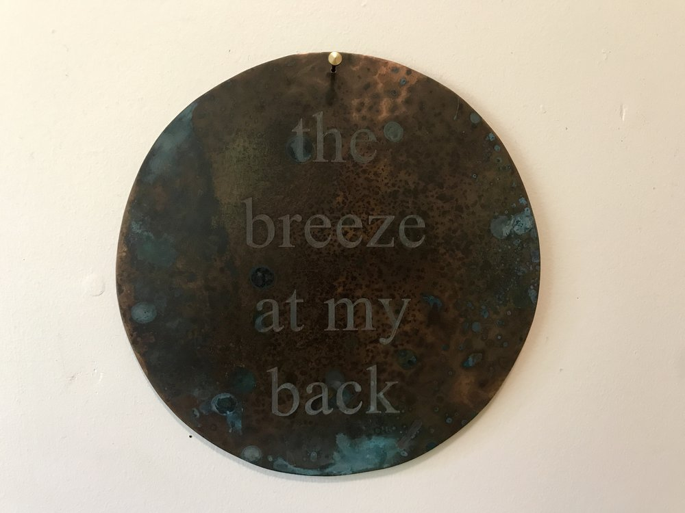 A Memorial to the Breeze, 2002-19, AP, patinated copper