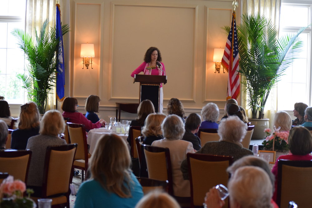 Camille Aubray with the American Association of University Women, New Canaan branch