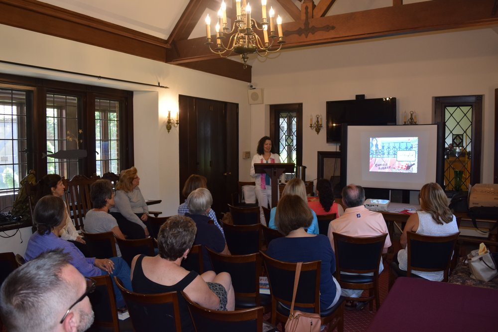 Camille Aubray at the East Hampton Library in Long Island, New York