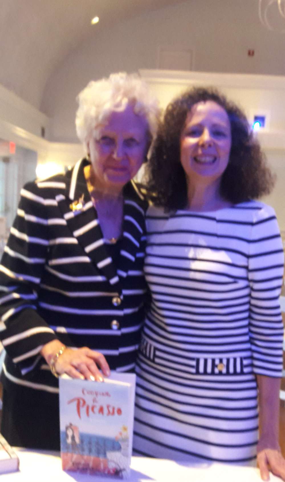 Camille Aubray with Diane Garrett of Diane's Books in Greenwich, CT