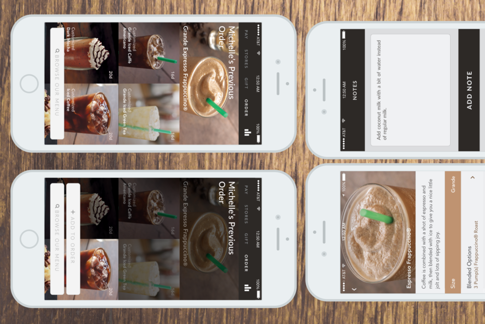 Starbucks iOS App: Mobile Ordering      Concept Redesign Based on a Guerrilla Usability Study        READ THE STORY