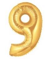 15849G Megaloon Nine Gold_mylar_balloons.jpg