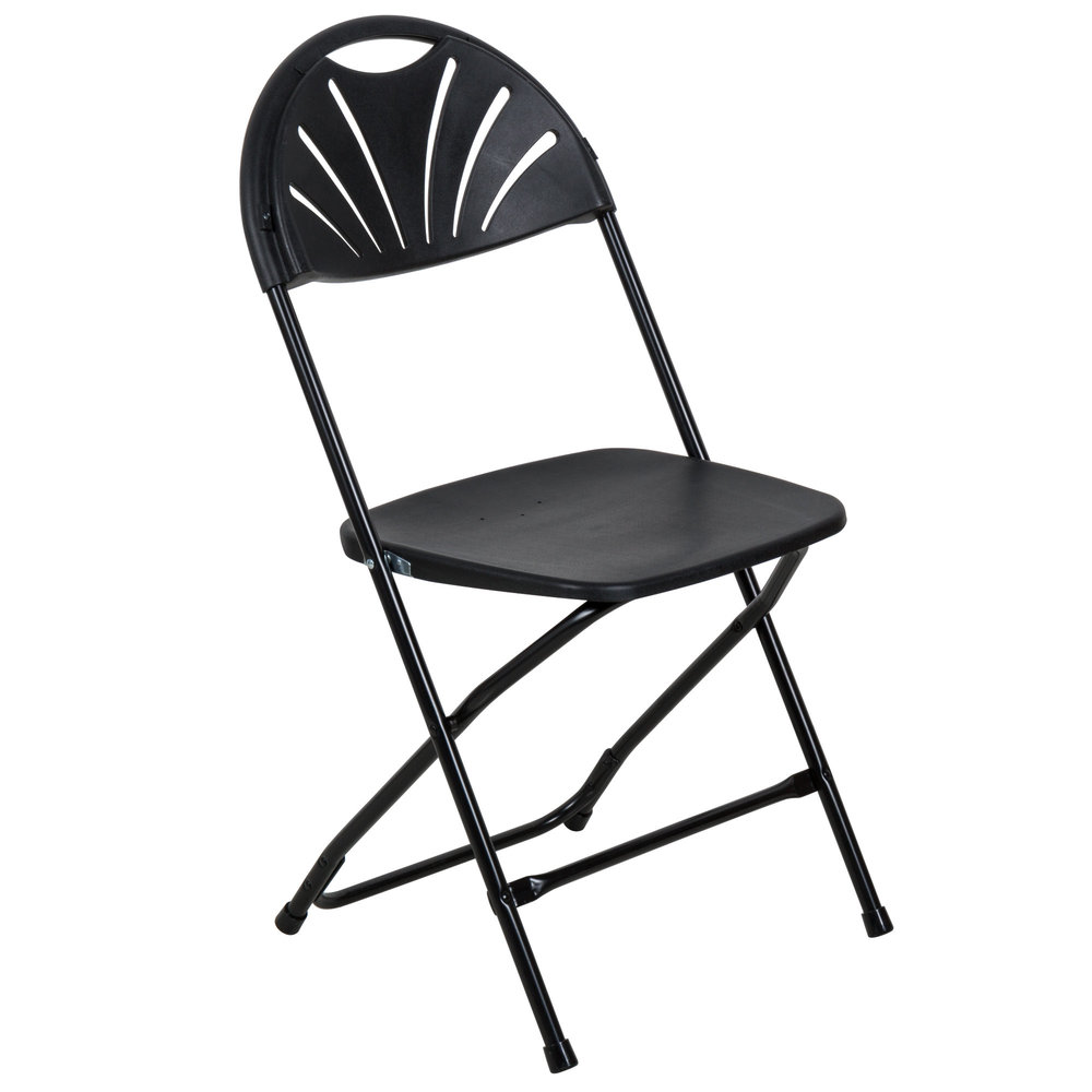 Black Fan Chair - $1.75 each (Currently only 100 in stock)