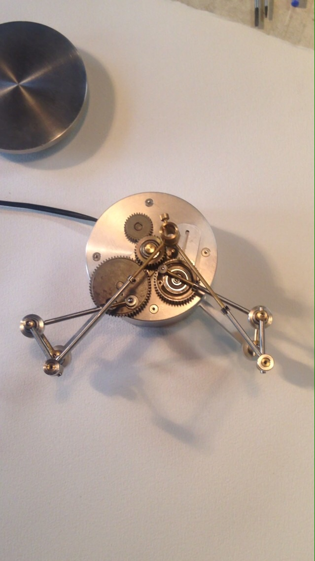Miniature geared drawing machine.