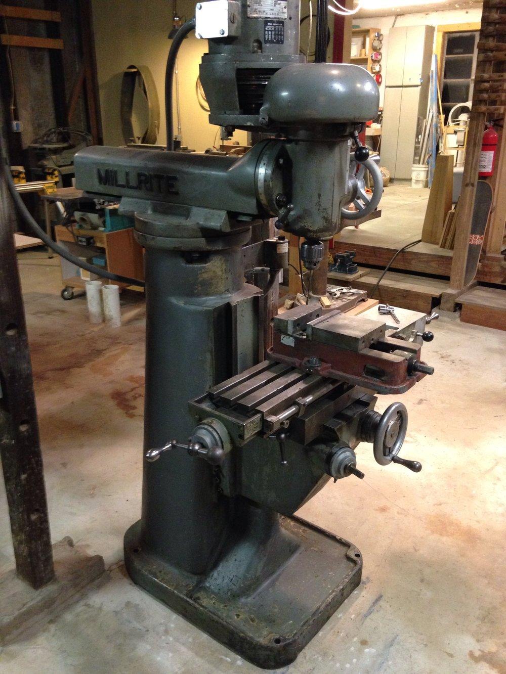 Burke millrite milling machine.