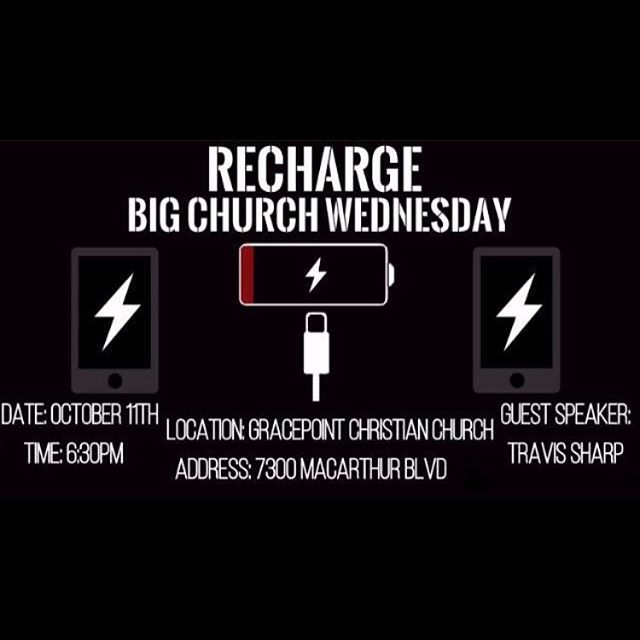 Save the date! Big church Wednesday is October 11! Be prepared to meet new people and learn lots about Jesus! It's gonna be great!!