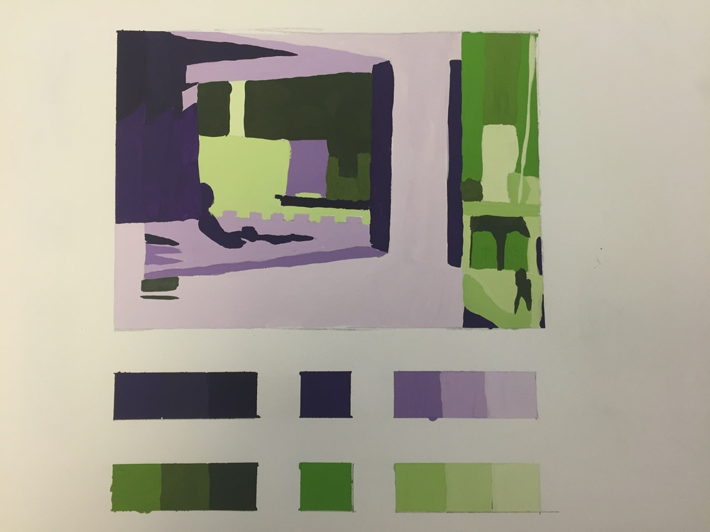 Office in a Small City, Complementary Colors Deconstruction