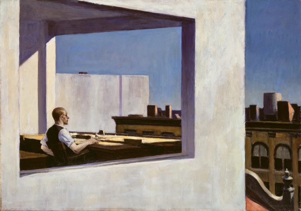 Edward Hopper, Office in a Small City