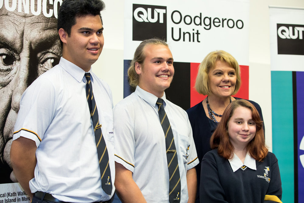 Our QATSIF Chair Professor Cindy Shannon with some of our graduating QATSIF students at QUT.