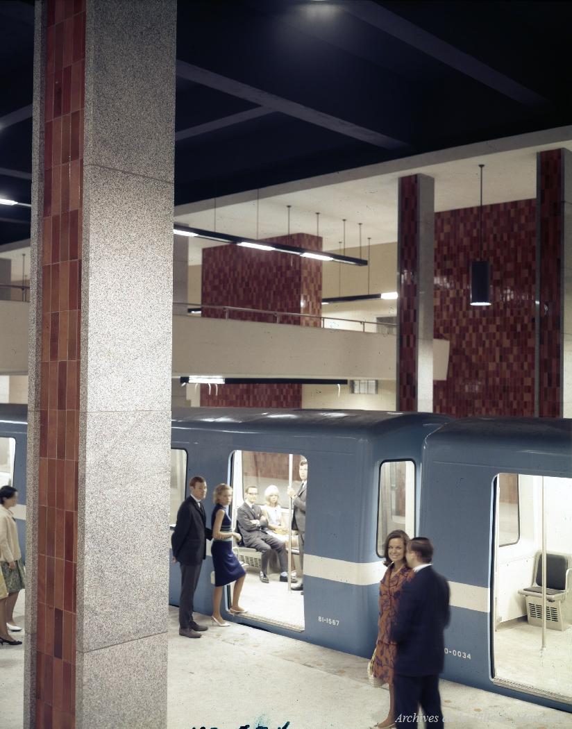 1966 opening of Montréal Metro