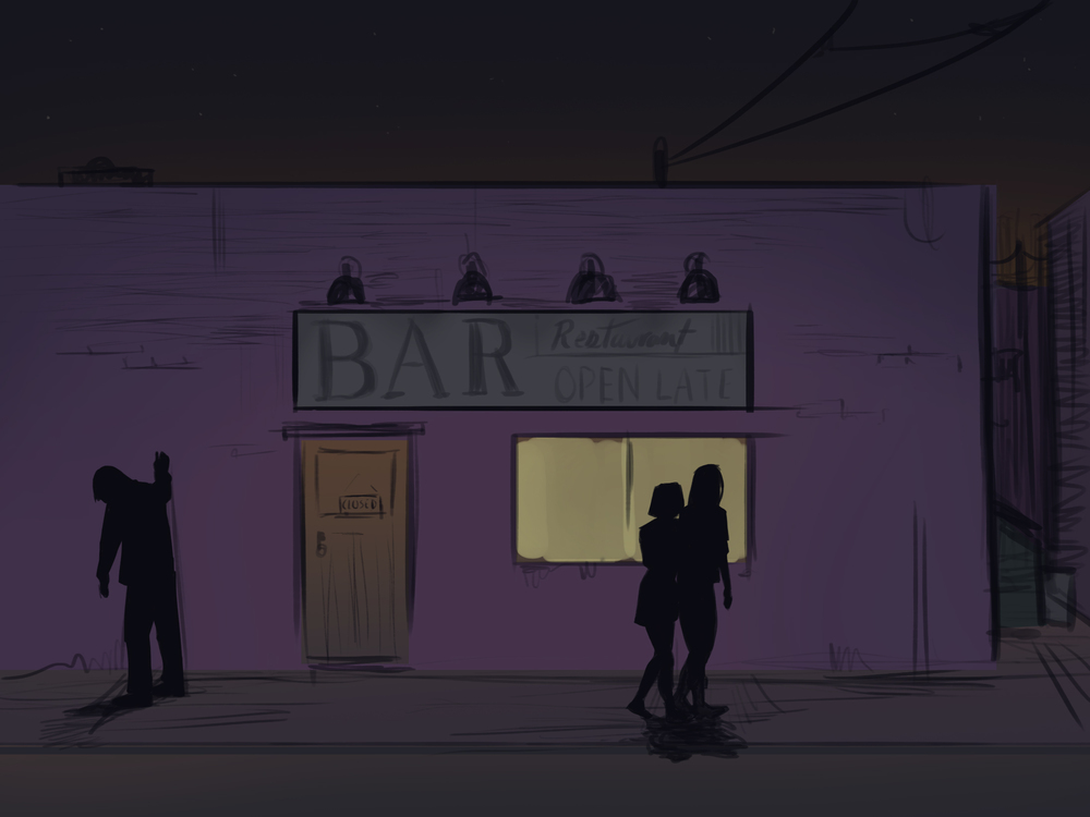 Outside the Bar