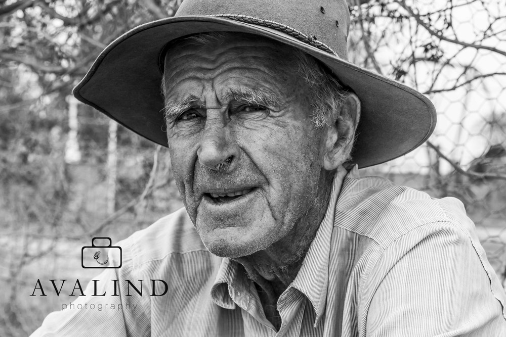 """Don. 83 years old. Battling drought and living on his own. """"It's the loneliness that gets you"""""""