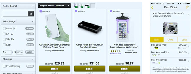 PriceGrabber, Amazon's Price Check