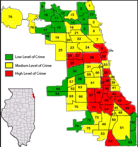 Survey Data Analysis: Mapping Community Areas by Index Crime Levels