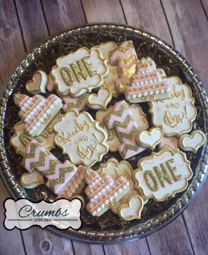You'll wonder how you ever put on a party without these beautiful cookies from Crumbs Custom Cookies!