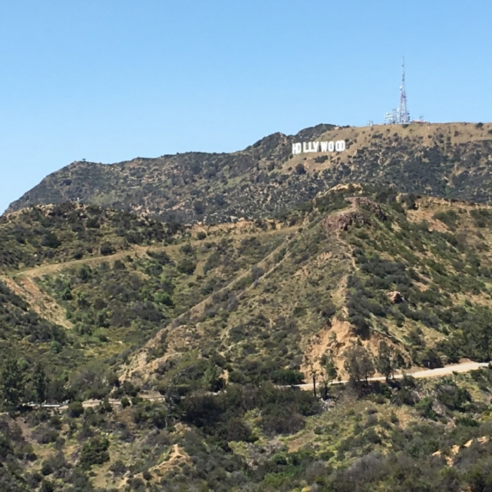 Hollywood sign view from the Griffith Observatory