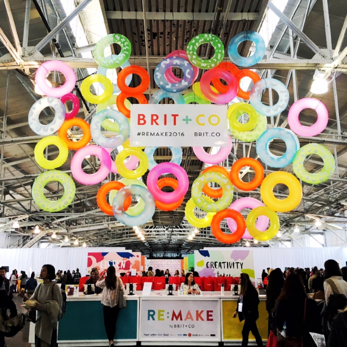 Brit + Co Re:make 2016 entrance at the Fort Mason Center for Arts and Culture
