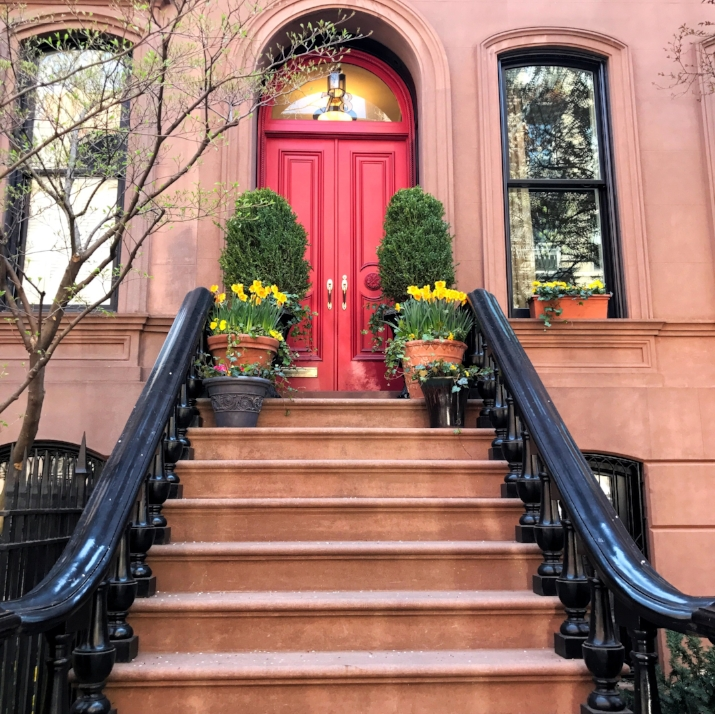 A stoop seen on Perry St. in the west village
