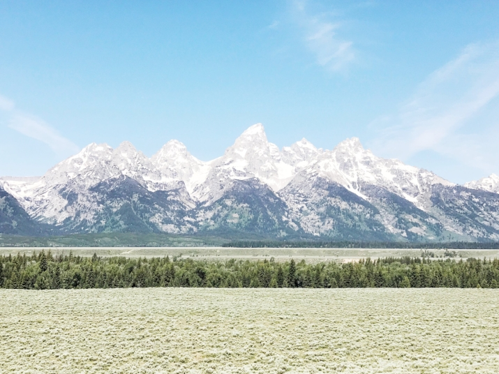 Our first stop, Grand Teton National Park - Wyoming, US