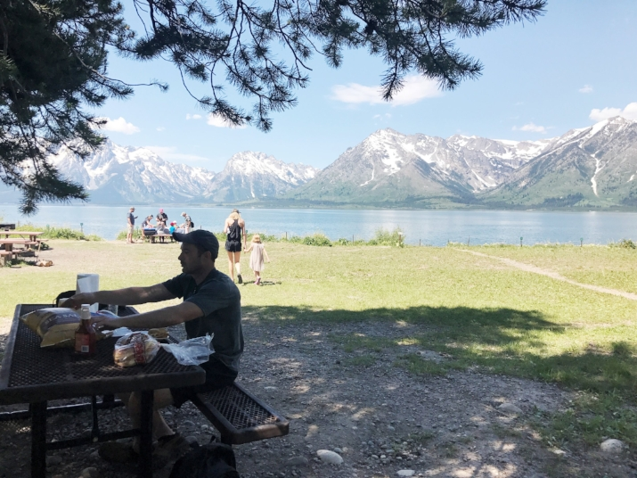 Casual lunch in the Tetons