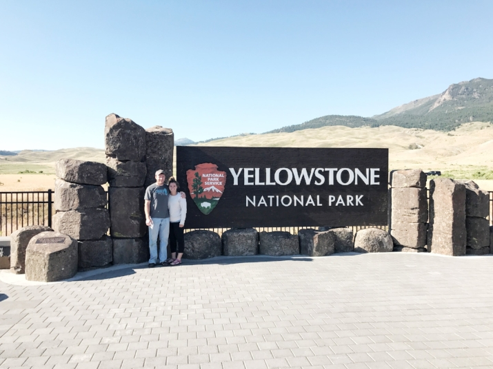 Heading into Yellowstone National Park - Wyoming, US