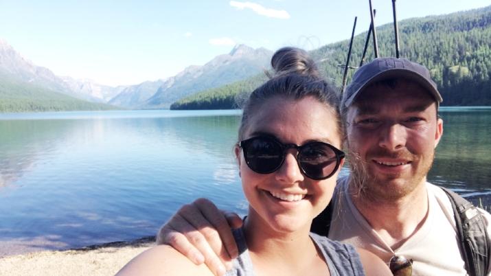 With my bae at Bowman Lake