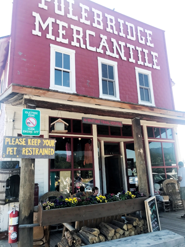 The most adorable bakery and shop in Polebridge, Montana near our campsite at Glacier