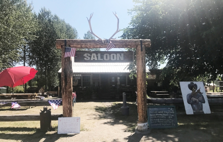 The bar in picturesque Polebridge, Montana