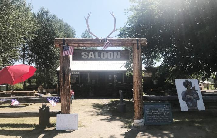 The bar in picturesque Polebridge, Montana