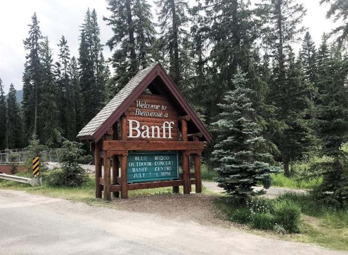 Heading into Banff National Park - Alberta, CA