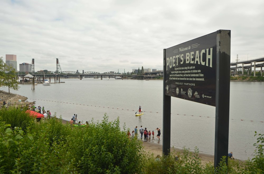 Poet's Beach becomes Portland's first official publish beach. Lifeguards will be on site every day until Sept. 4, 2017.