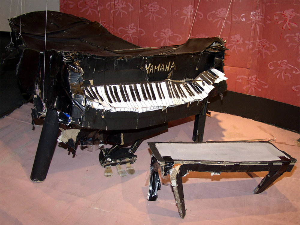 2002- minus monsters...- piano, to scale cardboard replicas for demolition party.jpg