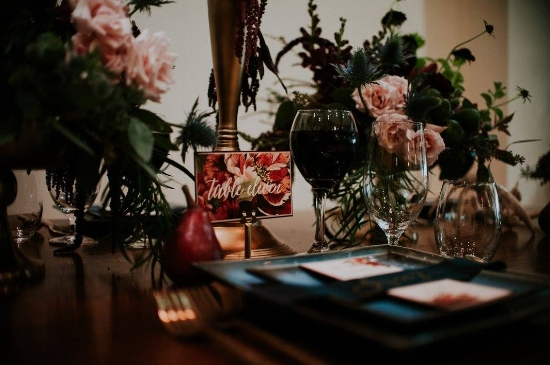 Moody and Romantic Tablescape                                                                                                     Photo Credit:  Natural Intuition Photography