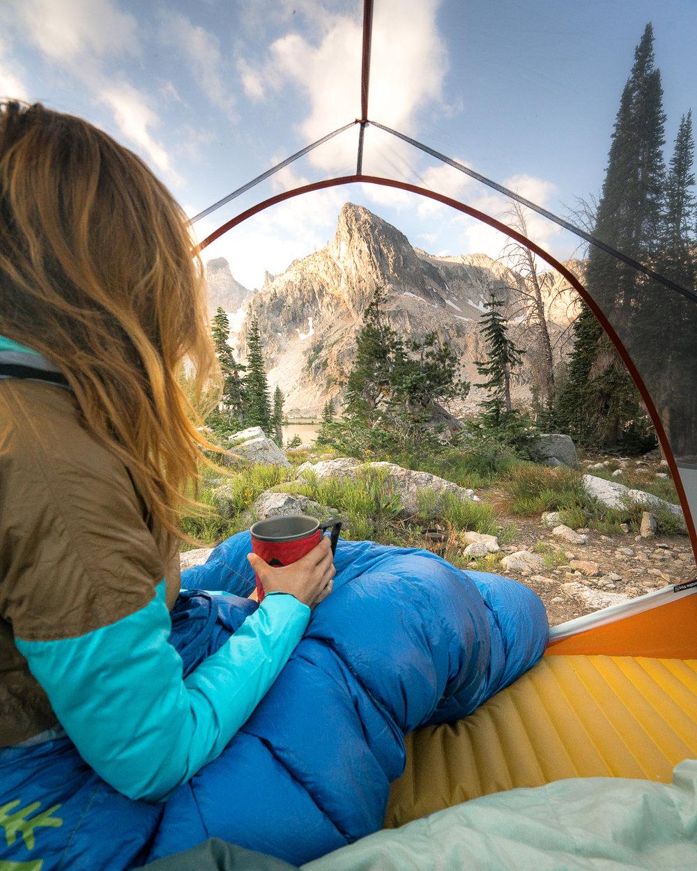 Camping Sawtooth Mountains, Idaho